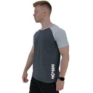 Camiseta Tradicional Masculina MXD Conceito Estampa Lateral Hardcore Vertical