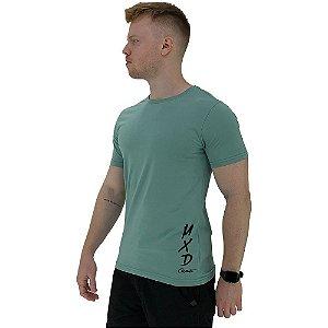 Camiseta Tradicional Masculina MXD Conceito Estampa Lateral Logo Vertical MXD