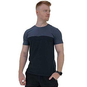 Camiseta Bicolor MXD Conceito Chumbo com Preto