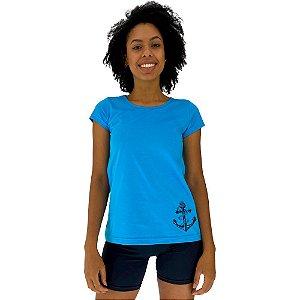 Camiseta Babylook Feminina MXD Conceito Ancora Marinha Lateral