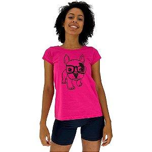 Camiseta Babylook Feminina MXD Conceito Cachorro Fofo