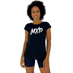 Camiseta Babylook Feminina MXD Conceito Logo MXD Treine Com Estilo