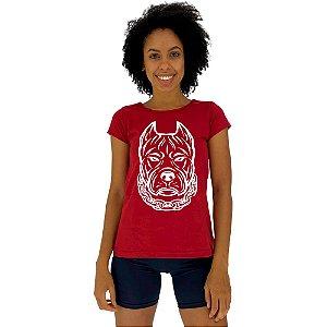 Camiseta Babylook Feminina MXD Conceito Pitbull Gangster
