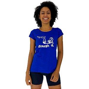 Camiseta Babylook Feminina MXD Conceito Smash It Esmagá-lo