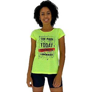 Camiseta Babylook Feminina MXD Conceito The Pain You Feel