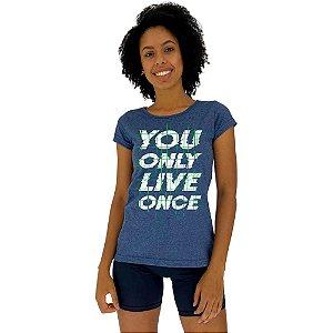 Camiseta Babylook Feminina MXD Conceito Você Só Vive Uma Vez