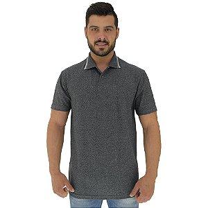 Camisa Gola Polo Masculina MXD Conceito Preto Pérola
