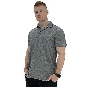 Camisa Gola Polo Masculina MXD Conceito Rajado Jet Cinza