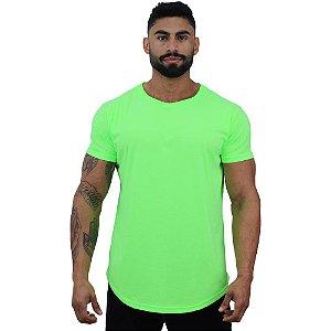 Camiseta Longline Masculina MXD Conceito Verde Fluorescente