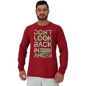 Camiseta Manga Longa Moletinho MXD Conceito Don't Look Back Não Olhe Para Trás