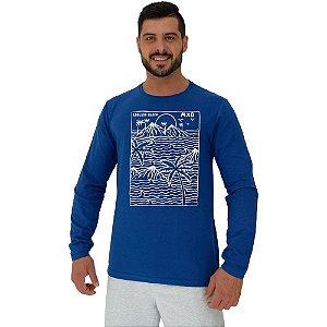 Camiseta Manga Longa Moletinho MXD Conceito Endless Beach Praia