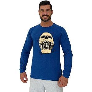 Camiseta Manga Longa Moletinho MXD Conceito Hardcore Skull
