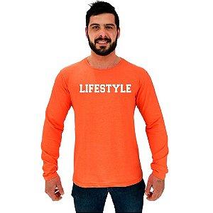 Camiseta Manga Longa Moletinho MXD Conceito Lifestyle Estilo de Vida