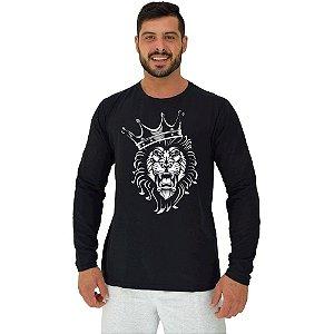 Camiseta Manga Longa Moletinho MXD Conceito Lion King Leão Rei