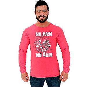 Camiseta Manga Longa Moletinho MXD Conceito No Pain No Gain Arms Musculos