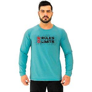 Camiseta Manga Longa Moletinho MXD Conceito No Rules No Limits Sem Limites