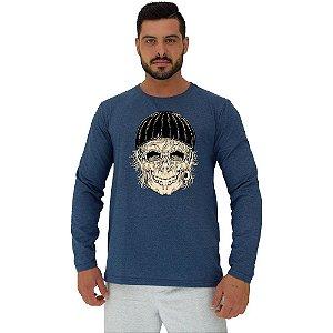 Camiseta Manga Longa Moletinho MXD Conceito Old Skull Touca