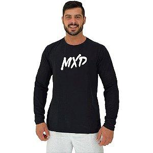 Camiseta Manga Longa Moletinho MXD Conceito Pincelado Básico