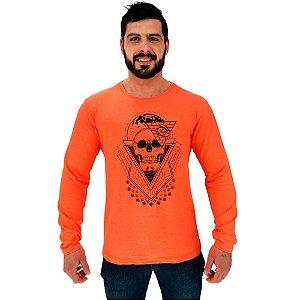 Camiseta Manga Longa Moletinho MXD Conceito World Skull