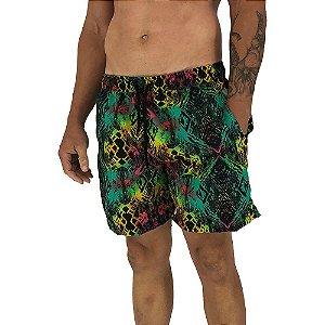 Shorts Praia Tactel Masculino MXD Conceito Black Illusion Colors