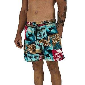 Shorts Praia Tactel Masculino MXD Conceito Surf Style