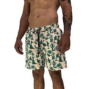 Shorts Praia Tactel Masculino MXD Conceito Cactos Floridos