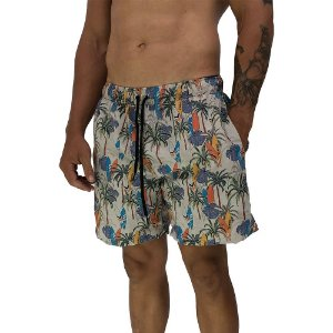 Shorts Praia Tactel Masculino MXD Conceito Palm Trees And Surfing