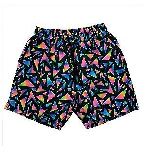 Shorts Praia Tactel Masculino MXD Conceito Prismas Quebrados