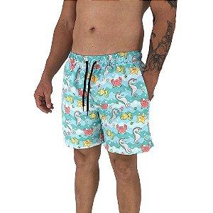 Shorts Praia Tactel Masculino MXD Conceito Fundo do Mar