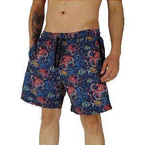 Shorts Praia Tactel Masculino MXD Conceito Abyssal Zone