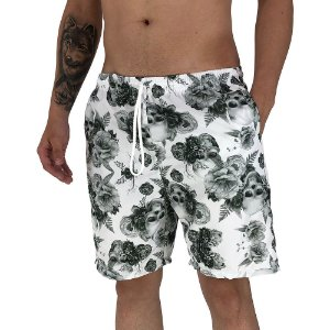 Shorts Praia Tactel Masculino MXD Conceito White Skull