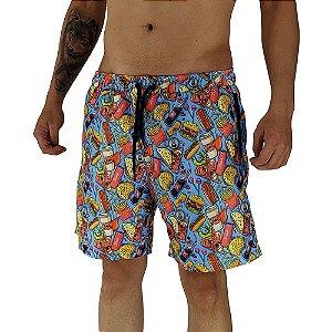 Shorts Praia Tactel Masculino MXD Conceito Lanchinho da Tarde