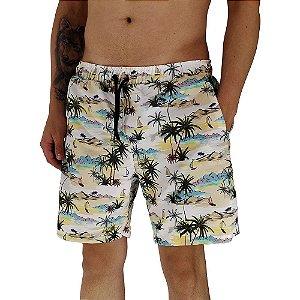 Shorts Praia Tactel Masculino MXD Conceito Paraiso Tropical