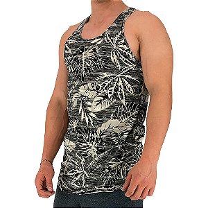 Regata Longline Masculina MXD Conceito FullPrint Palmeira Floral