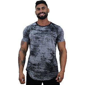 Camiseta Longline Fullprint Masculina MXD Conceito Cinza Corrosivo