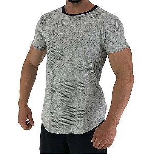 Camiseta Longline Fullprint Masculina MXD Conceito Camuflado Mescla