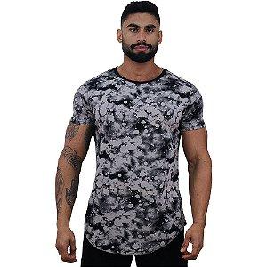 Camiseta Longline Fullprint Masculina MXD Conceito Manchas Acidas