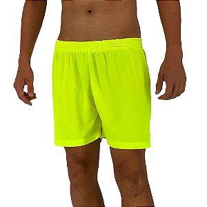 Shorts Masculino MXD Conceito Dry Fit Amarelo Fluorescente