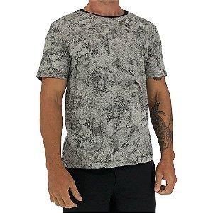 Camiseta Tradicional Masculina MXD Conceito Fullprint Estonado Corrosivo