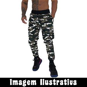 Calça Masculina MXD Conceito Moletom Camuflado Militar COM FALHA