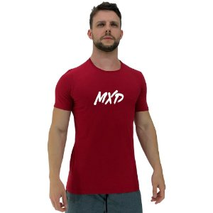 Camiseta Diferenciada Masculina KM MXD Conceito Vermelho Pincelado