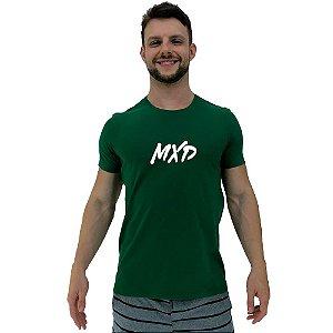 Camiseta Diferenciada Masculina KM MXD Conceito Verde Pincelado