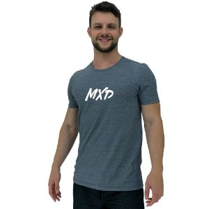 Camiseta Diferenciada Masculina KM MXD Conceito Cinza Nublado Pincelado