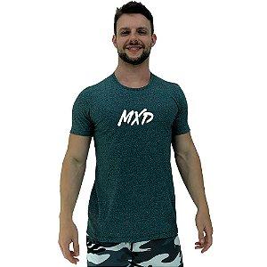 Camiseta Diferenciada Masculina KM MXD Conceito Moline Verde Musgo Pincelado