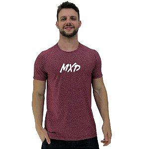 Camiseta Diferenciada Masculina KM MXD Conceito Mescla Vermelho Pincelado