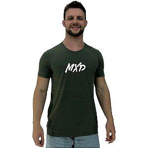 Camiseta Diferenciada Masculina KM MXD Conceito Verde Exército Pincelado