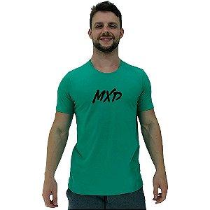 Camiseta Diferenciada Masculina KM MXD Conceito Verde Água Pincelado