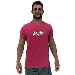 Camiseta Diferenciada Masculina KM MXD Conceito Pink Pincelado