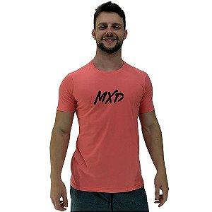 Camiseta Diferenciada Masculina KM MXD Conceito Salmão Pincelado