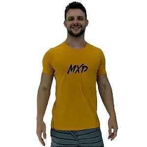 Camiseta Diferenciada Masculina KM MXD Conceito Amarelo Queimado Pincelado